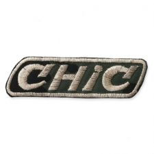 'CHIC' BADGE MOTIF IRON ON EMBROIDERED PATCH APPLIQUE